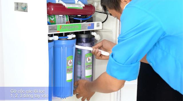 Hướng dẫn thay lõi lọc nước tại nhà