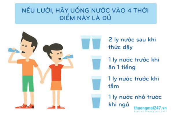 thời điểm uống nước tốt nhất