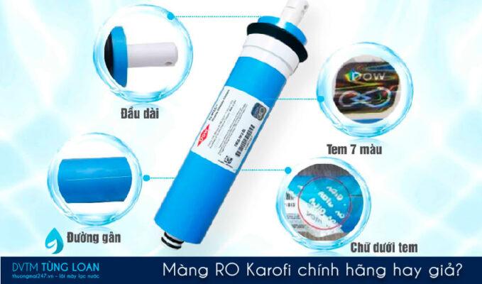 Cách nhận biết màng lọc RO Karofi chính hãng hay giả