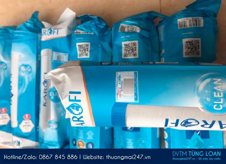 Đơn hàng 3 bộ lõi Karofi 123 gửi cho khách hàng ở Hậu Giang
