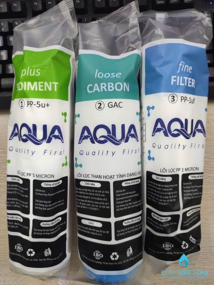 Bộ 3 lõi lọc aqua