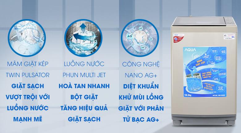 Máy giặt Aqua công nghệ nano Ag+