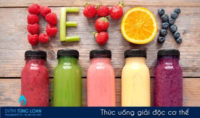 Nước detox thức uống giải độc cơ thể