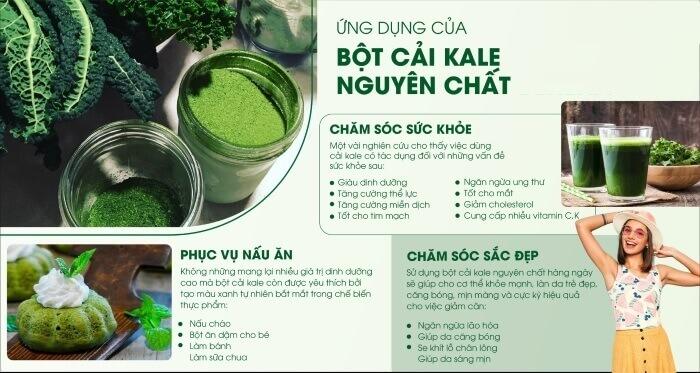 Bột cải kale có tác dụng gì?