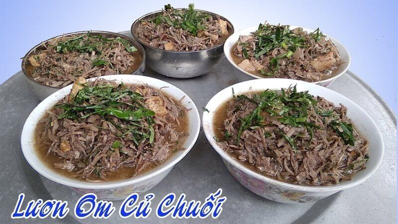 Món lươn nấu củ chuối