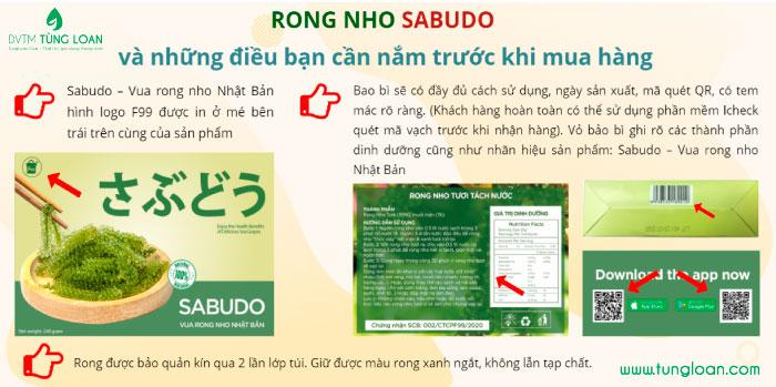 Phân biệt rong nho chính hãng Sabudo