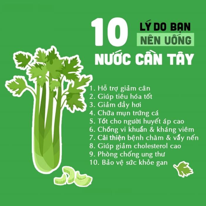 10 lý do nên uống bột cần tây sấy lạnh