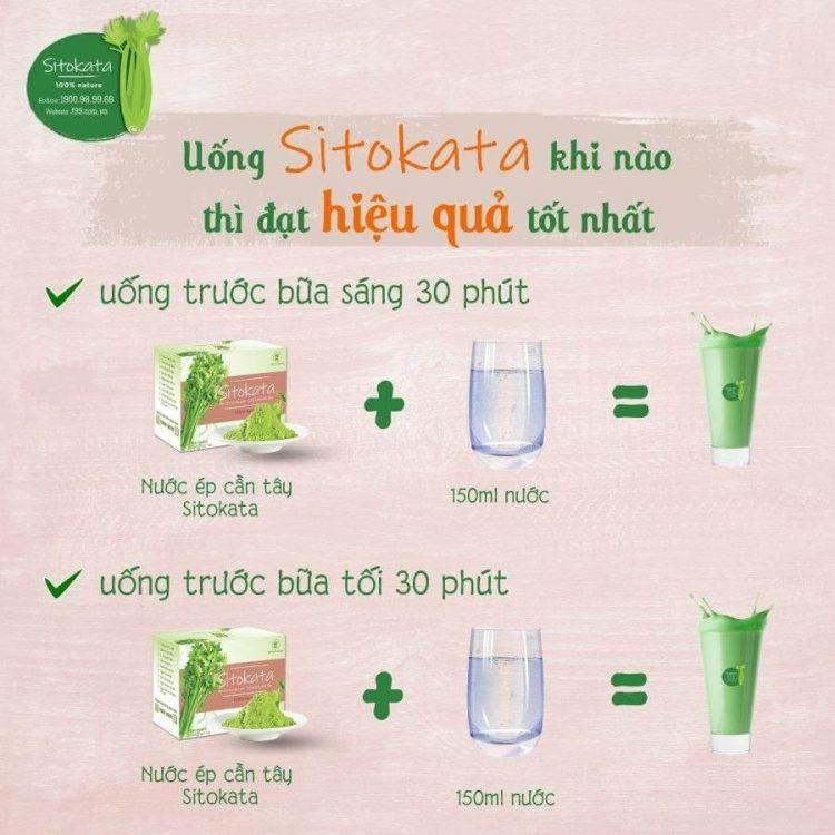 Uống Sitokata khi nào thì đạt hiệu quả tốt nhất